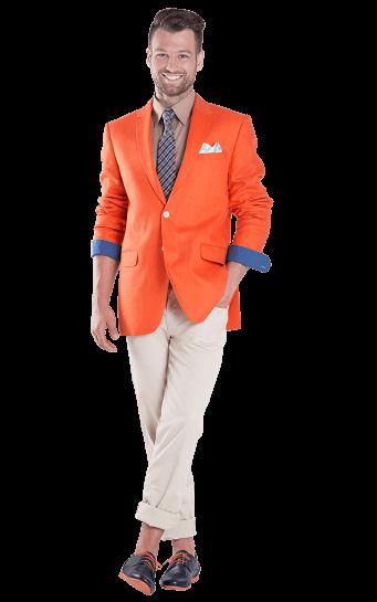 Ryškus švarkas Borys 3 oranžinis